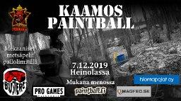 Kaamospaintball Heinolassa 7.12.2019