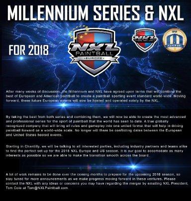 Millennium Series yhteen NXL:n kanssa