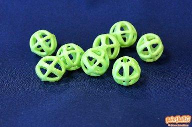 Testissä Atom 6 kumikuulat